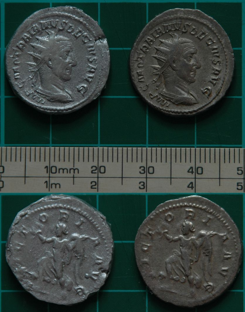 Making plastic replica tokens of Roman coins