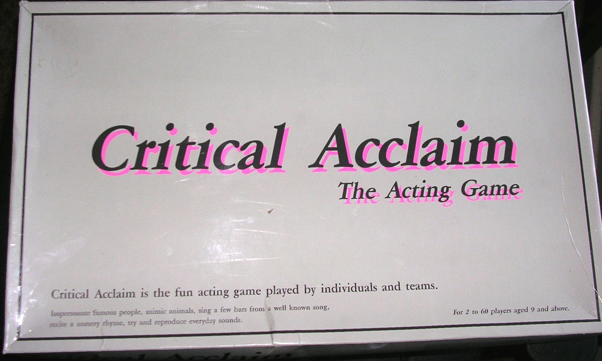 Critical Acclaim: The Acting Game