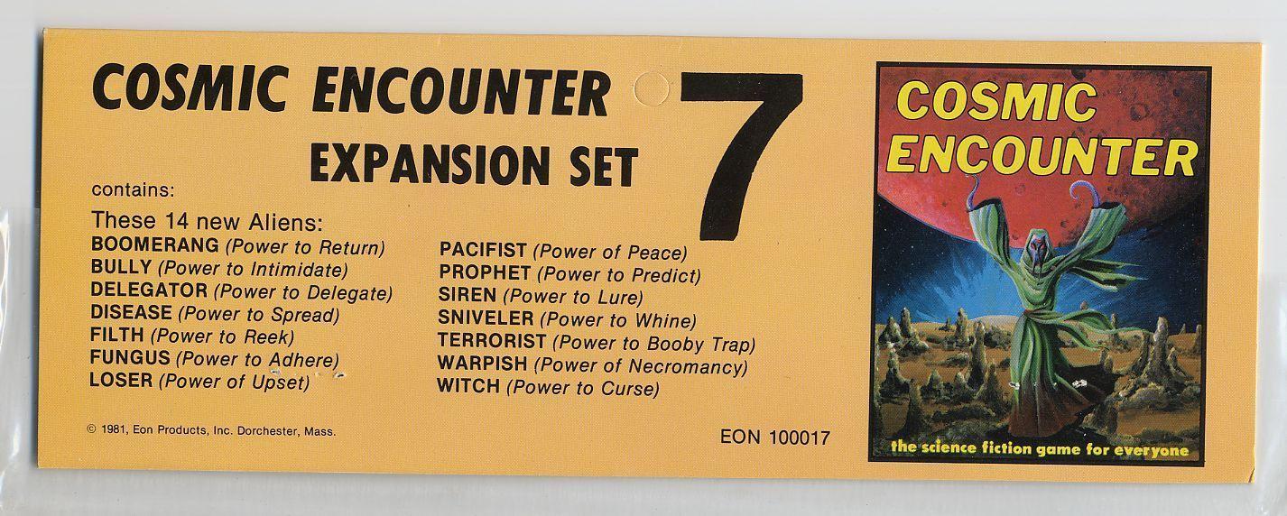 Cosmic Encounter: Expansion Set #7