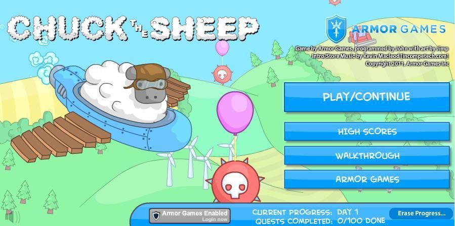 A Browser Game Review: Chuck the Sheep | Chuck the Sheep