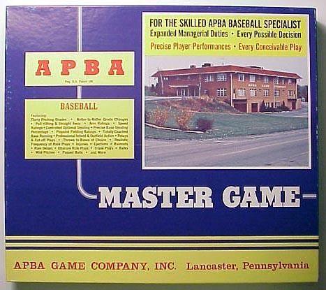 APBA Major League Baseball Master Game