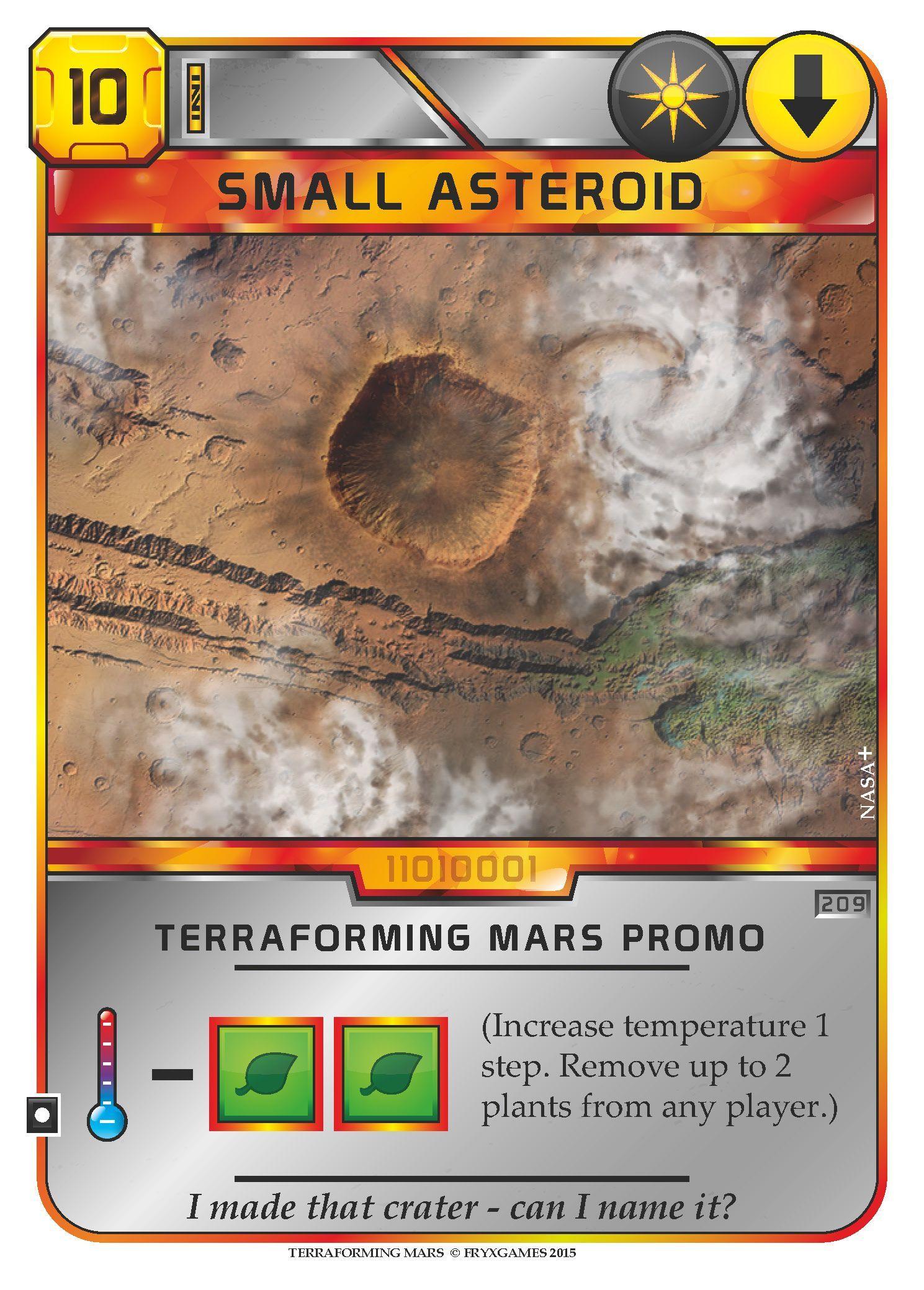 Покорение Марса: Мелкий астероид промо-карта