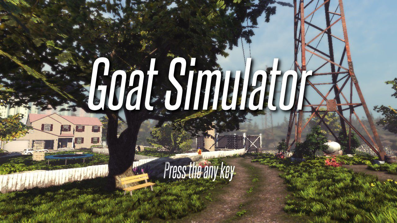 Welcome to Goat Simulator, the game where everything is silly and