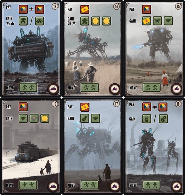Scythe: Promo Pack #4 – Factory Cards 13-18