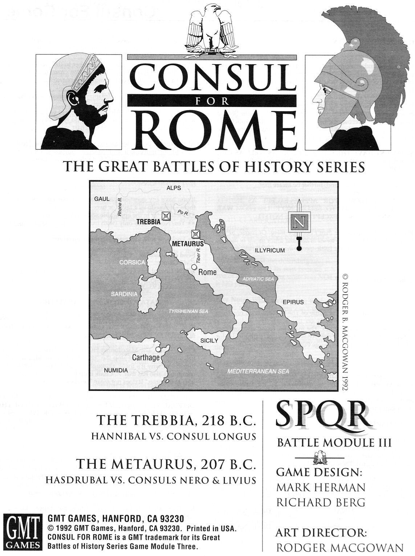 Consul for Rome: SPQR Module