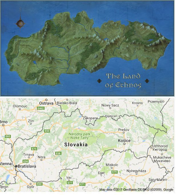 Curious... why map of Slovakia? | Ethnos | BoardGameGeek