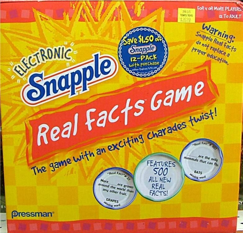 Snapple Real Facts Game