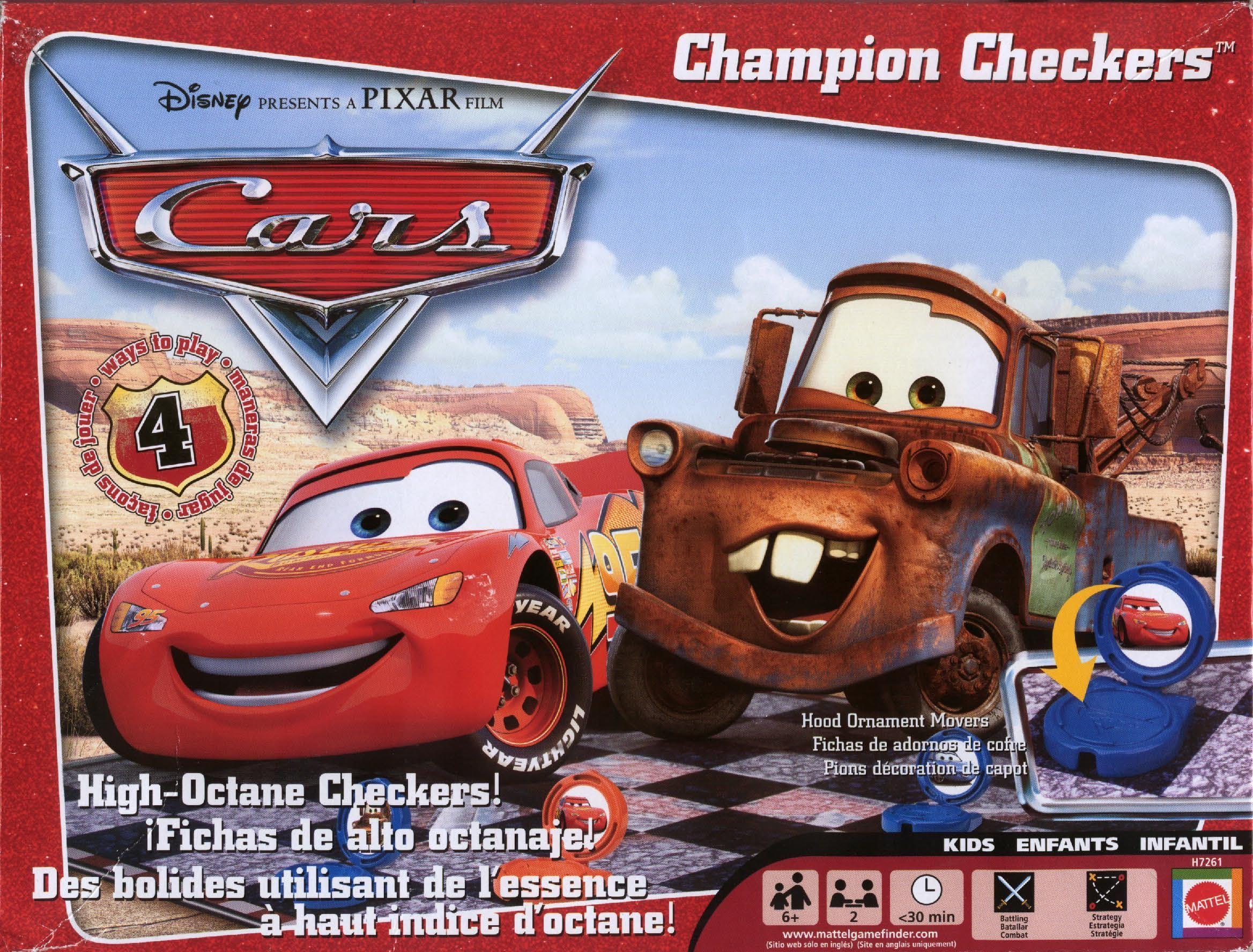 Cars Champion Checkers