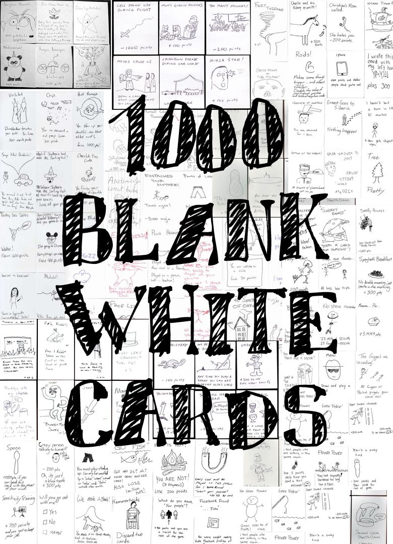 1000 Blank White Cards