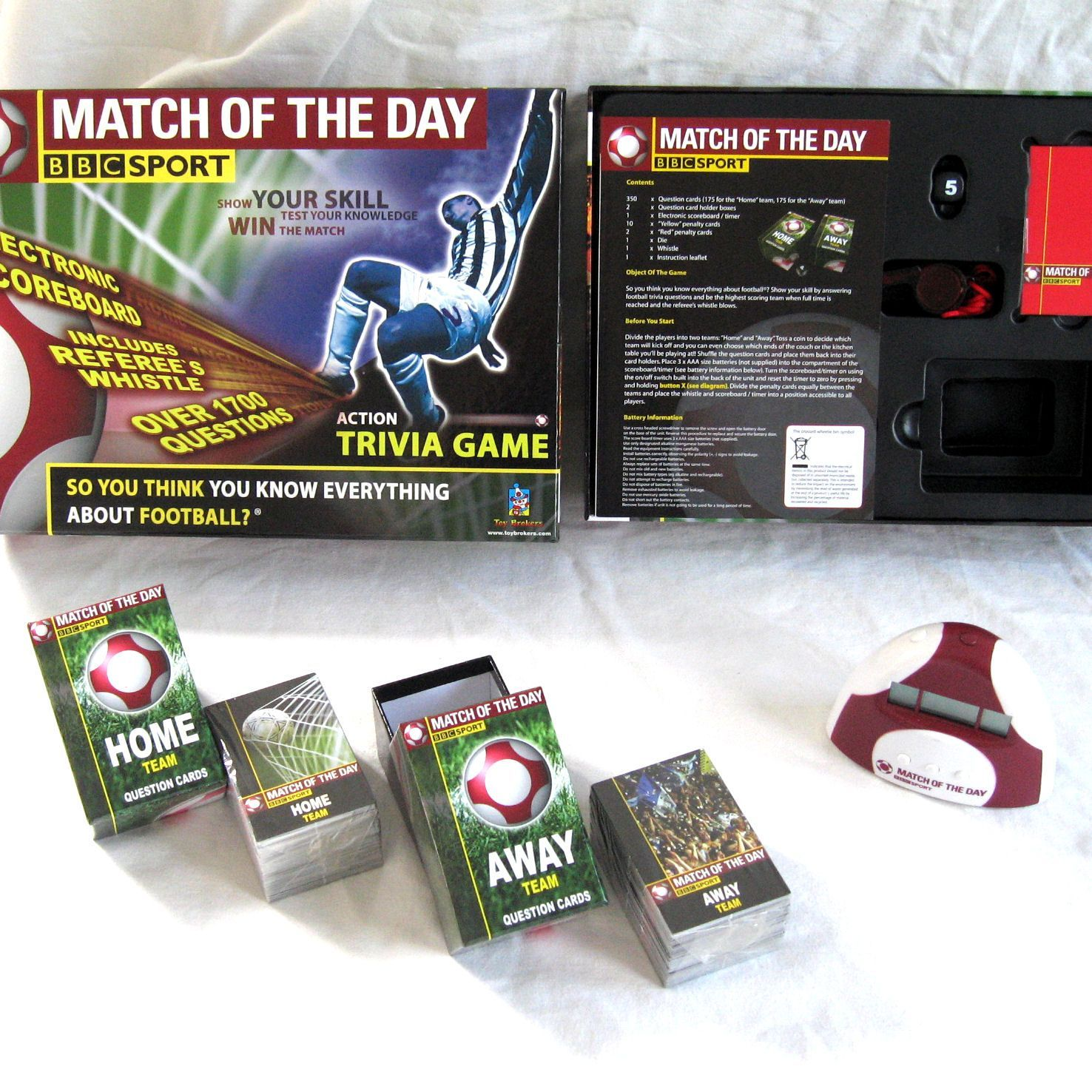 Match of the Day Electronic Trivia Game