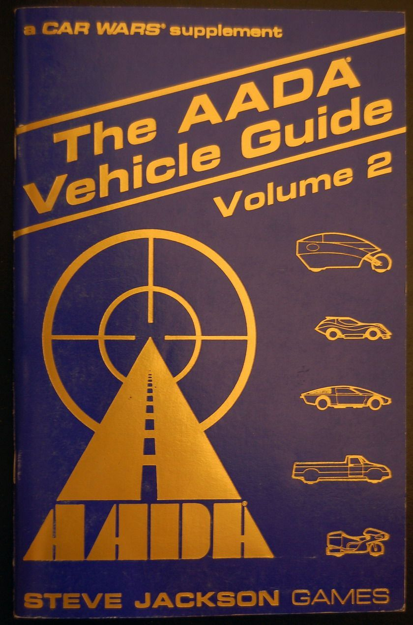 Car Wars Supplement, The AADA Vehicle Guide: Volume 2