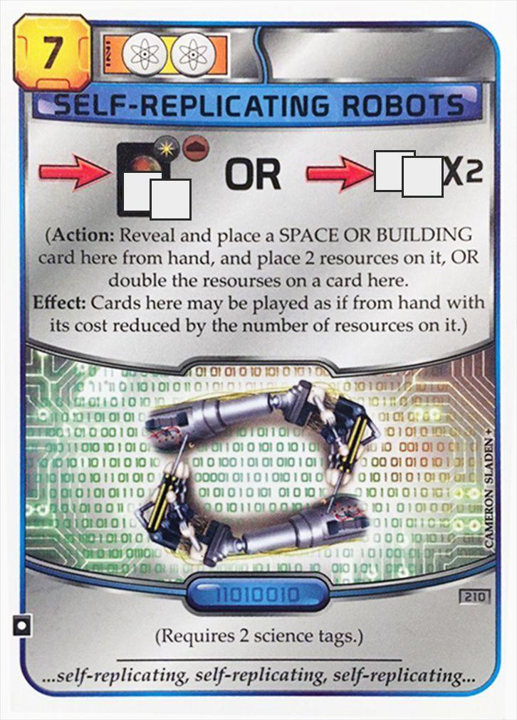 Покорение Марса: Роботы-саморепликанты промо-карта