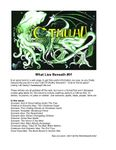 Issue: What Lies Beneath (Issue 1 - Aug 2002)