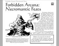 RPG Item: Necromantic Feats