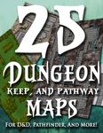 RPG Item: 25 Dungeon, Keep, and Pathway Maps