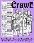 Issue: Crawl! (Issue 6 Character Record Sheets)