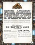 RPG Item: Full Metal Fridays Installment 5, Week 4: The Noble's Tournament