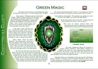 RPG Item: Colours of Magic: Green Magic (D20)