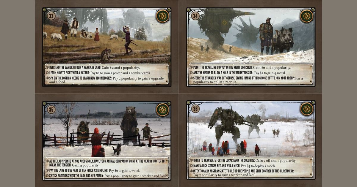 4 Power Cards Scythe Combat Card Set Official Extra//Replacement Game Pieces