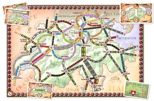 Board Game: Ticket to Ride Map Collection: Volume 2 – India & Switzerland
