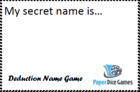 Board Game: Deduction Name Game