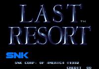 Video Game: Last Resort