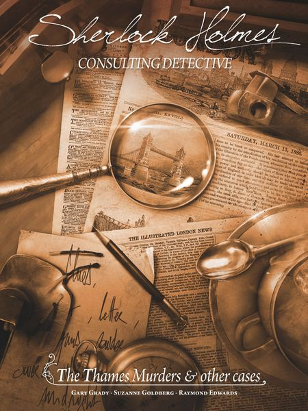 Sherlock Holmes Consulting Detective: The Thames Murders and Other Cases, Space Cowboys, 2017 — front cover (image provided by the publisher)