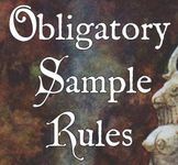 RPG: Obligatory Sample Rules