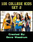 RPG Item: 100 College Kids Set 2