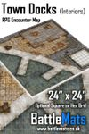 RPG Item: Town Docks (Interiors) RPG Encounter Map