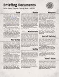RPG Item: Briefing Documents