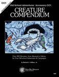 RPG Item: Old School Adventures Accessory CC1: Creature Compendium