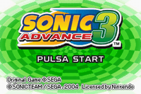 Video Game: Sonic Advance 3