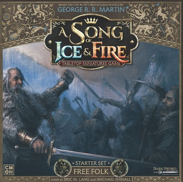 Game of Thrones Minis THG A Song of Ice /& Fire Free Folk Tactics Cards Deck