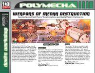 RPG Item: Weapons of Mecha Destruction