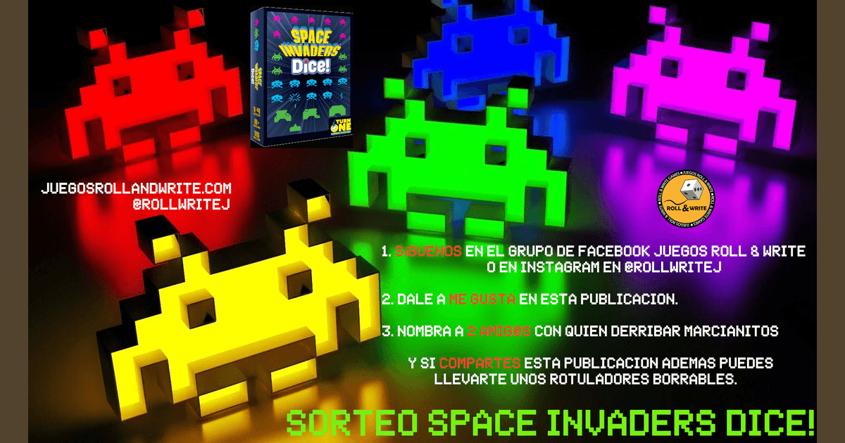 Space Invaders Dice Contest Juegos Roll Write Boardgamegeek