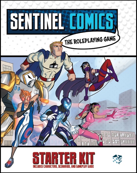 Sentinel Comics: The Roleplaying Game – Starter Kit, Greater Than Games, 2017