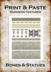 RPG Item: Print & Paste Dungeon Textures: Bones & Statues