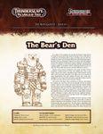 RPG Item: The Aden Gazette Issue No. 02: The Bear's Den (Pathfinder)