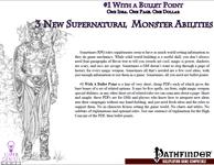 RPG Item: Bullet Points: 3 New Supernatural Monster Abilities