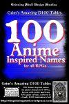 RPG Item: 100 Anime Inspired Names for all RPGs