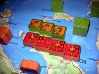 Pompey takes on Caesar in battle
