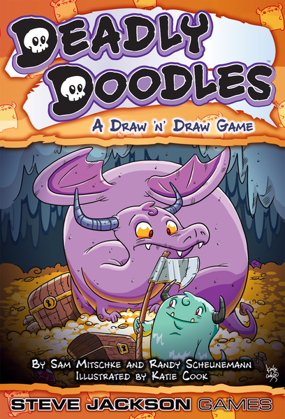 Deadly Doodles, Steve Jackson Games, 2019 — front cover (image provided by the publisher)