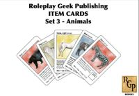 RPG Item: Item Cards Set 3: Animals