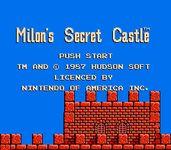 Video Game: Milon's Secret Castle