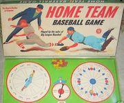 Board Game: Home Team Baseball Game