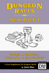 RPG Item: Dungeon Races Item Pack 1: Elves, Dwarves, Humans, & Halflings