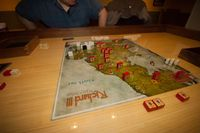 A game in progress on route to a Lancaster victory.