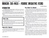 RPG Item: Modern: Six-Pack - Psionic Operative Items