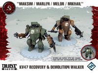 "Board Game: Dust Tactics: KV47 Recovery & Demolition Walker – ""Maksim / Marlen / Melor / Mikhail"""